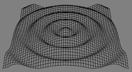 Код рисует поверхность